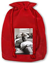 Marilyn Monroe James Dean Movie Poster Christmas Drawstring Bag Gift Bags Santa Sack For Christmas Party Decoration