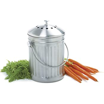 Norpro 1 Gallon Stainless Steel Compost Keeper,