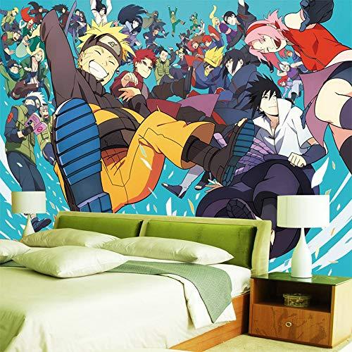 Csqw Naruto Papel Pintado Fotomurales Anime HD 3D Etiqueta De La Pared HD Sala Dormitorio Decoración Póster Seda Mural Habitación
