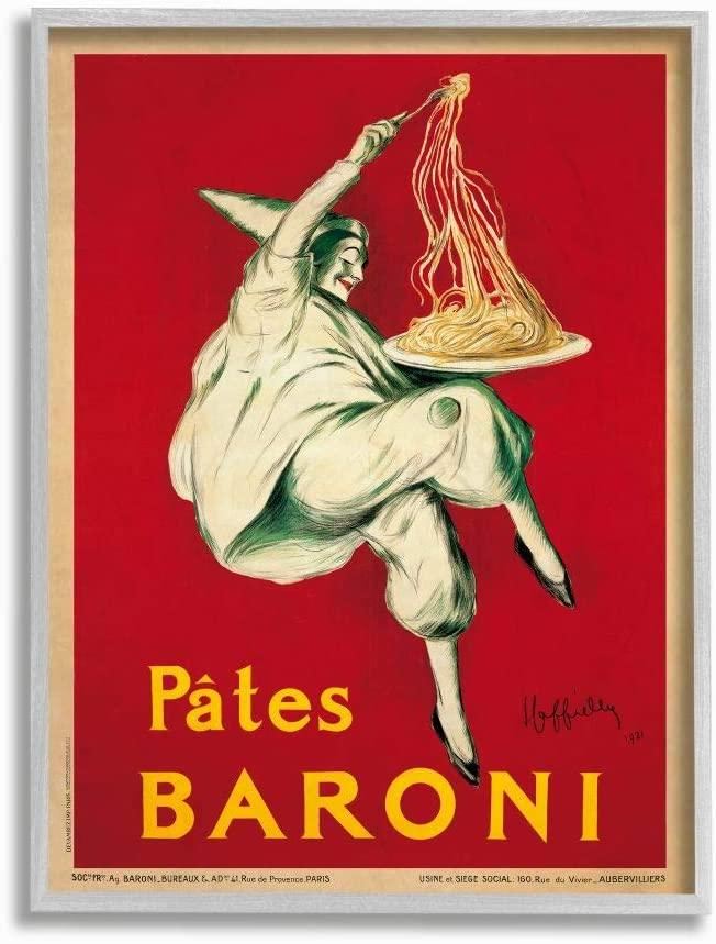 Stupell Industries Pates Baroni Vintage M by Poster Food Max 41% OFF Design Sales