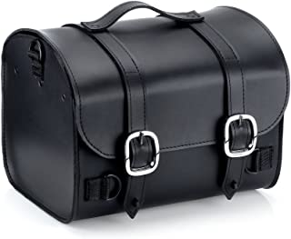 Nomad USA Leather Plain Motorcycle Trunk Bag w/Quick Release Buckles