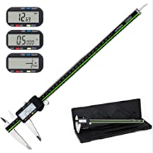 Digital Caliper Stainless Steel Body with Large LCD Screen 12 Inch Millimeter Fractions Conversion Sattiyrch Electronic Vernier Caliper Measuring Tool (12 inch)