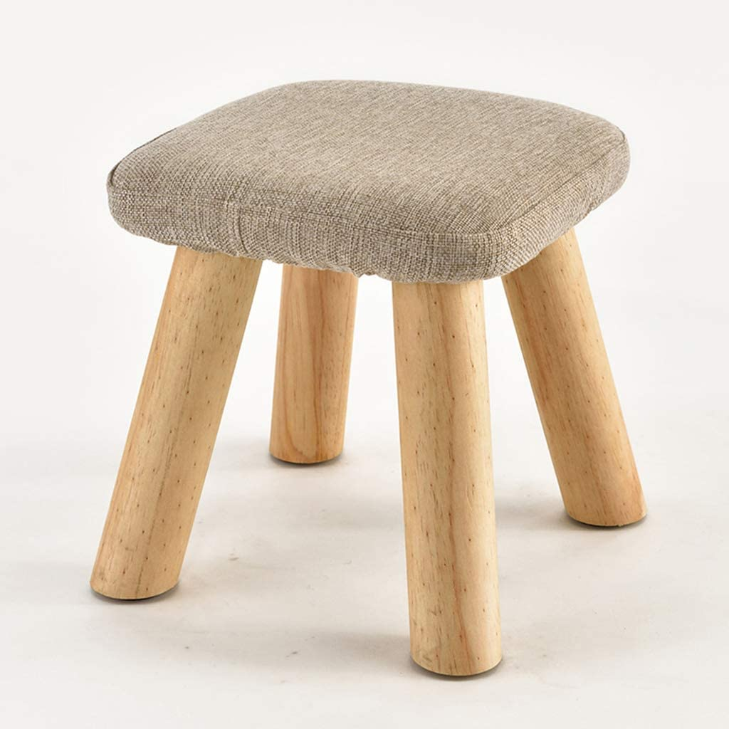 JHSLXD Small Wooden Stool Home Living Surprise price Changing Shoe Fabric Limited price