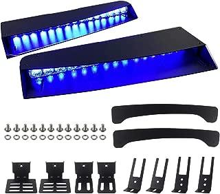 ASPL Visor lights bar 2-15 LED 29 Flash Patterns Interior Upper Windshield Split Mount Emergency Hazard Warning Strobe Light Bar (Blue)