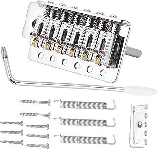 Rockyin Sistema de trémolo con compactadora de bloqueo vibrato puente Cordal for la guitarra del ST (plata)