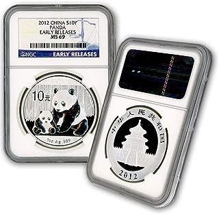 panda silver coin 2012
