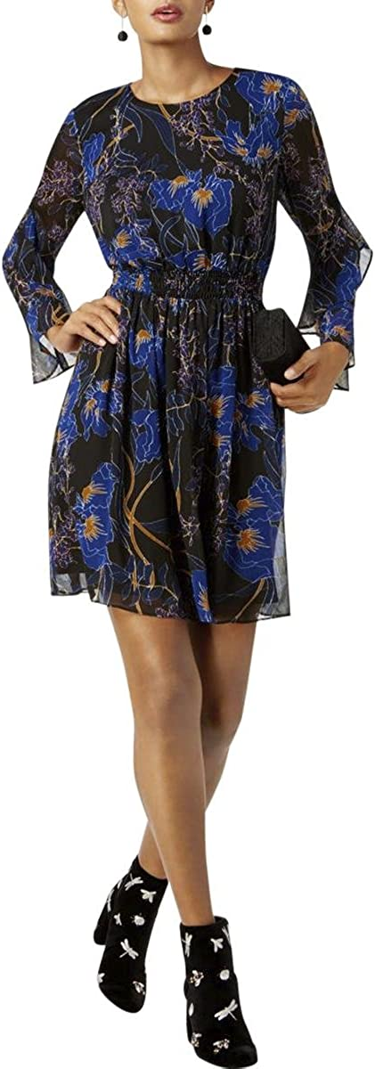 INC Womens Floral Print Fit & Flare Cocktail Dress