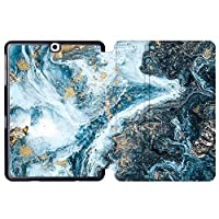 MAITTAO Galaxy Tab S2 9.7 Case T810 T815 T813 T817, Slim Folio Shell Case Stand Cover with Auto Wake/Sleep for Samsung Galaxy Tab S2 9.7 Case Inch Tablet Sleeve Bag 2 in 1 Bundle, Marble 17