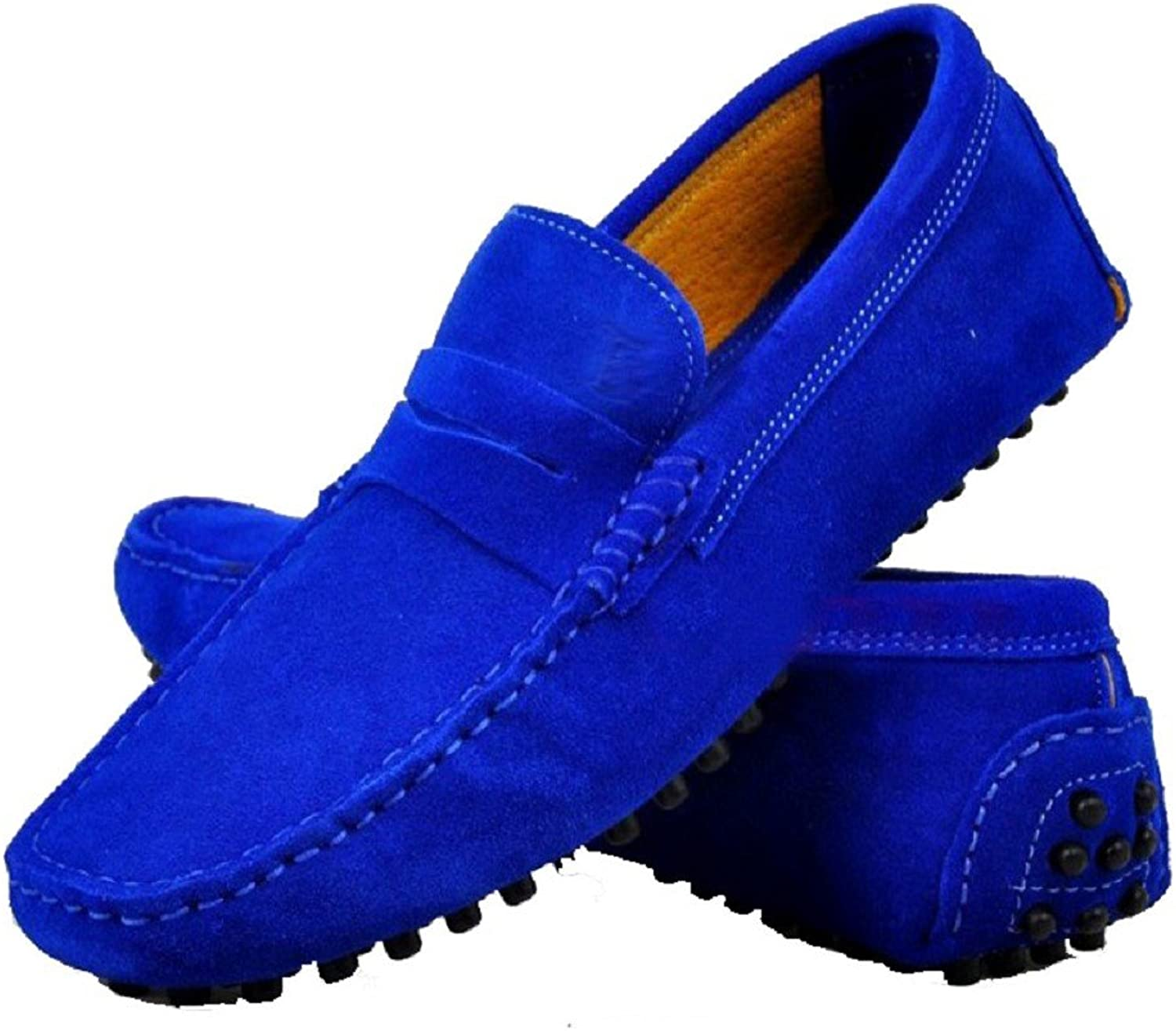 Cover Plus 9 color Fashion Suede Leather Mens Casual Slip On Driving Moccasin Penny Loafers Flats shoes