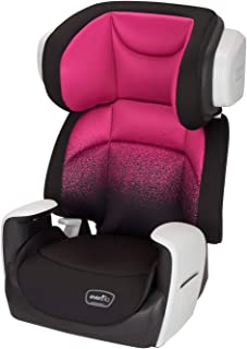 Evenflo Spectrum Belt-Positioning Booster Seat, 2-in-1 Booster Seat, Ergonomic Seat Base, Advanced Compression Technology, High-Back Booster, No-Back Booster, Two Cup Holders, Sunrise Pink