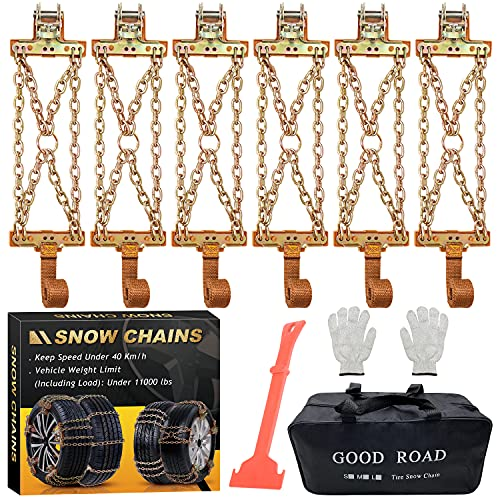 Snow Chains, Tire Chains for Trucks Suvs, Cars, Sedan, Family Automobiles for Tire Width...