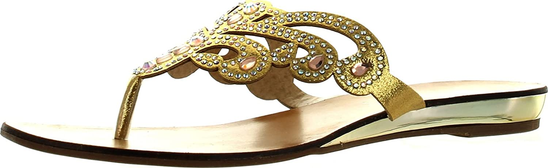Good Choice Womens Miss Universe Fashion Glitzy Flip Flop Sandals