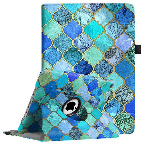 Fintie iPad 9.7 2018 2017 / iPad Air 2 / iPad Air Case - 360 Degree Rotating Stand Protective Cover with Auto Sleep Wake for iPad 9.7 inch (6th Gen, 5th Gen) / iPad Air 2 / iPad Air, Cool Jade