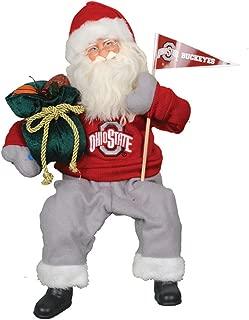 Santa's Workshop OHB040 Ohio State Musical/Animated Santa Figurine, 15