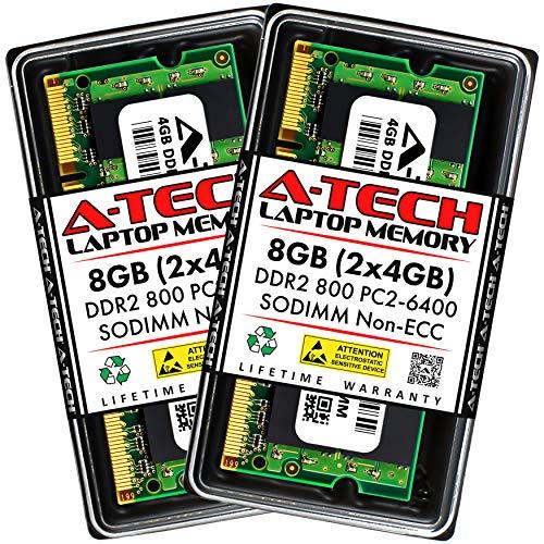 A-Tech 8GB (2x4GB) DDR2 800MHz SODIMM PC2-6400 1.8V