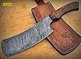 RK- CP-285, Damascus Steel 12.00 Inches Cleaver style Knife – Solid Rose Wood...