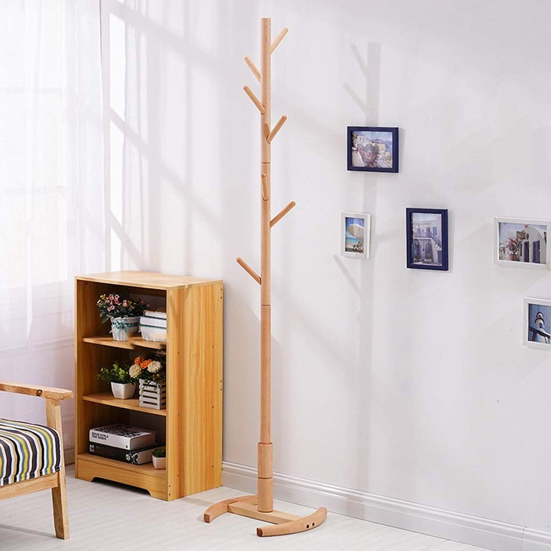 Qi_Hallway Furniture Coat Stand,Free Standing Wooden Coat Rack Hat Rack,Entryway Clothes Rack Hanger,Tree-Shaped Rack Coat Stand in Bedroom and Hallway Standing Coat Racks (color   Type B)