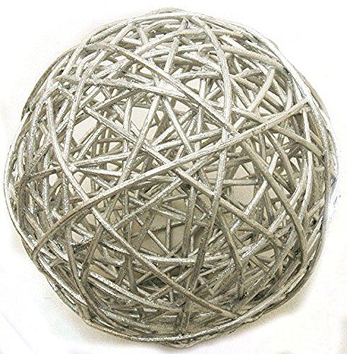 2 boules en osier argentées (Dia. 6 cm) - taille - Taille Unique - 208320
