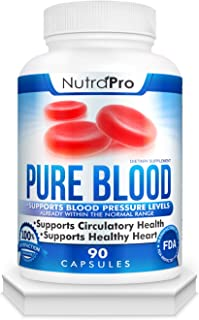Blood Pressure Support Supplement – Healthy Heart,Cholesterol Level, Cardiovascular Support.with Hawthorn & Hibiscus.Natur...