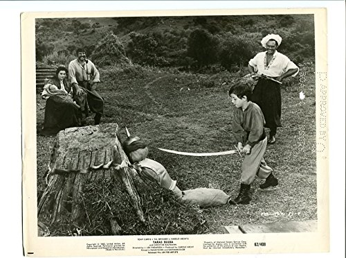 MOVIE PHOTO: TARAS BULBA-1962-8X10 PROMO-TONY CURTIS-ADVENTURE VG
