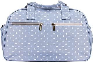 Kiwisac Trendy Grey Palmira Azul Bolso Maternal Unisex con un Diseño Original y Divertido/Bolsa de Mamá con Cambiador Bandolera Ajustable, Color Gris, 44x18x27 cm