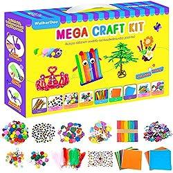 Abito super valore: Varietà di materiale decorativo per l'artigianato artistico fai-da-te in una scatola, in grado di soddisfare esigenze diverse quando i bambini fanno progetti artistici. Sono facili da usare e sicuri per i bambini. Queste parti di ...