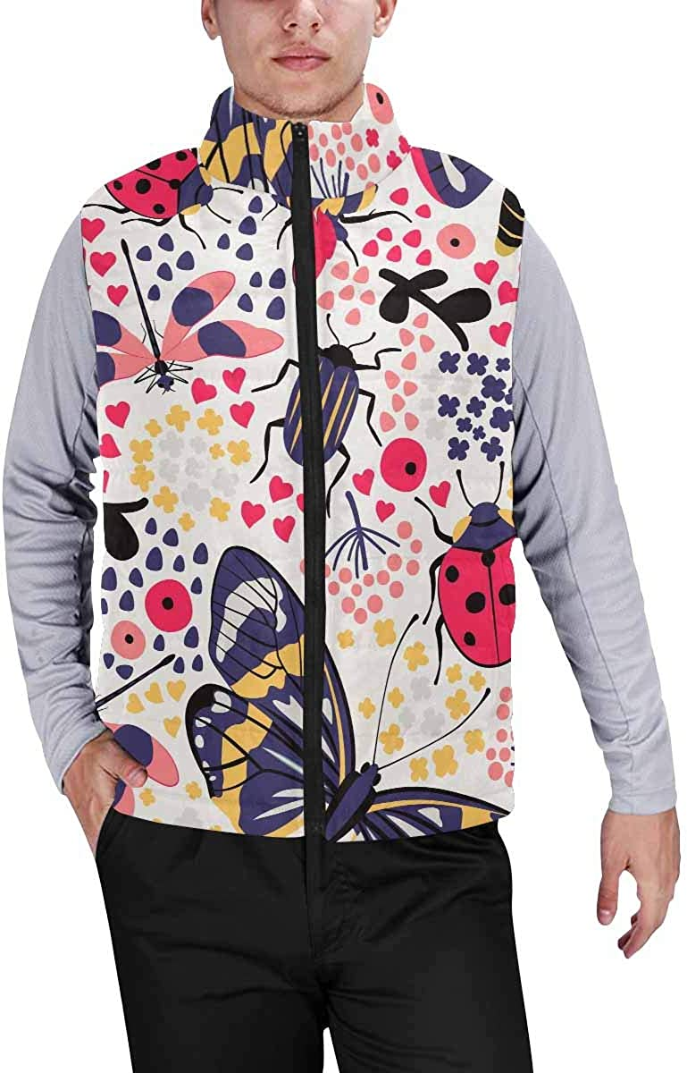 InterestPrint Men's Breathable Sleeveless Coat for Climbing Dragonfly Wing