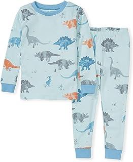 لباس خواب پسرانه بچه گانه Burt's Bees، Tee and Pant 2-Piece Pj ، 100٪ پنبه ارگانیک