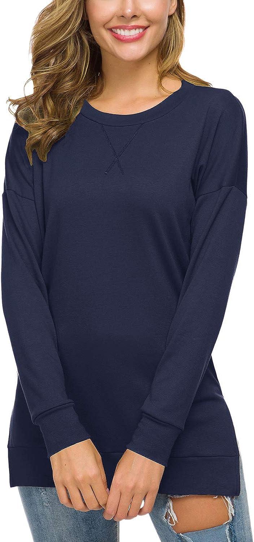 RJXDLT Womens Crewneck Long Sleeve T Casual Sweatshirts Sale Pullover Cash special price