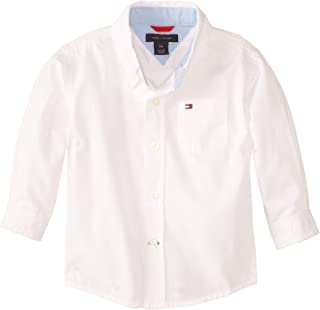 Boys' Long Sleeve Solid Woven Shirt