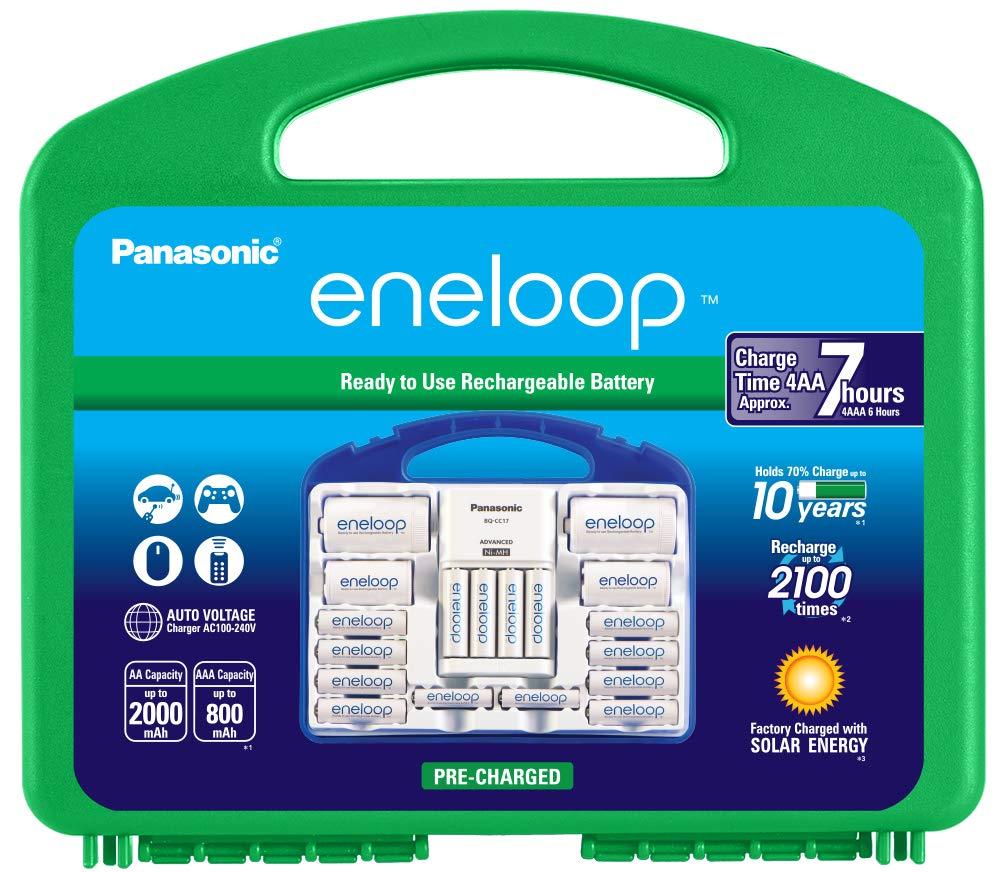 Panasonic Advanced Cargador de batería Individual con batería Recargable Eneloop AA de 2100 ciclos Paquete de súper Potencia: Amazon.es: Electrónica