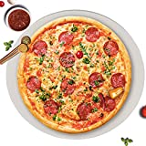 GGC 14 inch Pizza Cooking Stone for Ovens, Grill and BBQ to Cook Perfect Crispy Crust Pizza, Bread and Cookies at Home, Garden and Outdoor, Distributes Heat Evenly Round Baking Stone