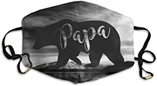 Papa Bear Reusable Anti Dust Face Mouth Cover Mask,Warm Windproof Mask