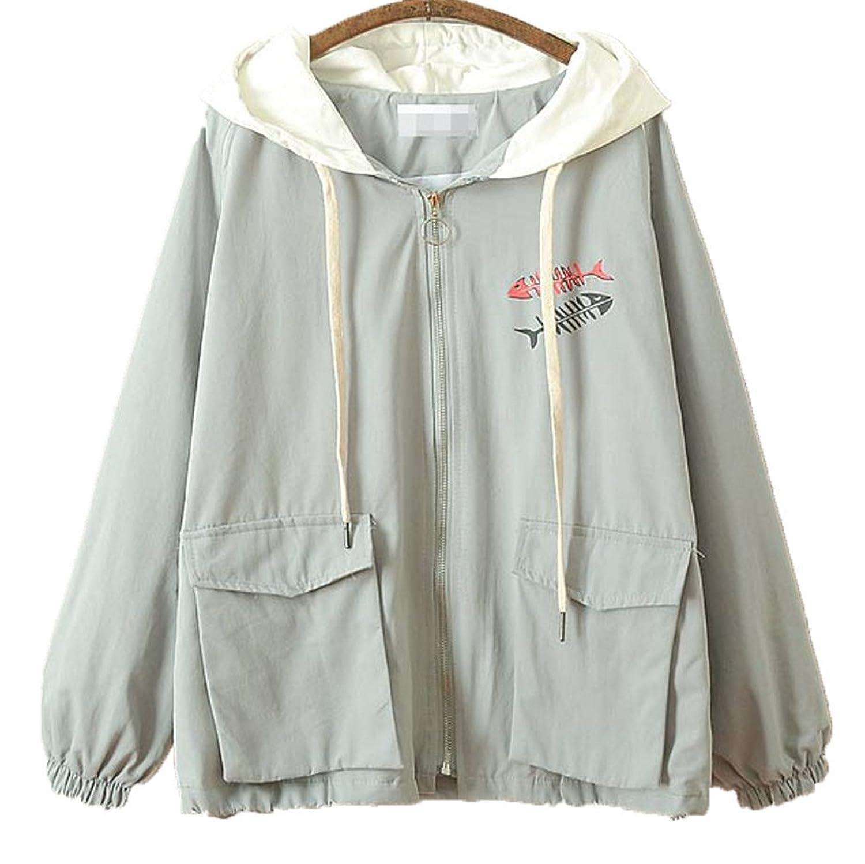 [美しいです] 春秋 レディース 可愛いコート 学院風 ゆったり ジャケット 上着 日系 森ガール 少女 原宿風 シンプル トップス