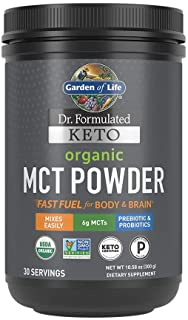Garden of Life Dr. Formulated Keto Organic MCT Powder - 30 Servings, 6g MCTs from Coconuts Plus Prebiotic Fiber & Probioti...