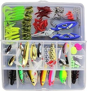 Kit de iscas de pesca VORCOOL com 101 peças, caixa completa de equipamentos de pesca, incluindo spinners VIB, ganchos agud...