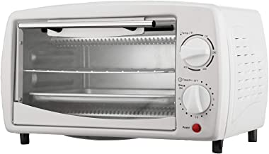 Brentwood TS-345W Toaster Oven Stainless Steel, 4 slice, White