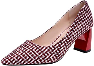 THE LONDON STORE Women's Multi-Color Jacquard Pointed Pumps