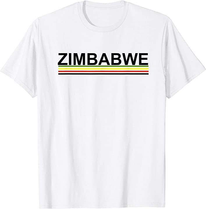 Zimbabwe Tshirt with Flag Colors for Adults and Kids