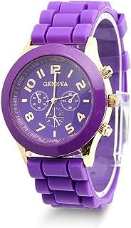 HeroNeo® Classic Womens Girls Geneva Silicone Jelly Gel Quartz Analog Sports Wrist Watch