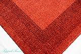 Traum Designer Teppich Moderner Teppich Wohnzimmer Teppich Velours Kurzflor Teppich mit Winchester Bordüre in Rot Größe 120x170 cm - 4