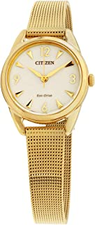 Citizen LTR Champagne Dial Stainless Steel Ladies Watch EM0682-58P