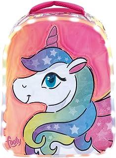 Mochilas Preescolar para Niñas | Mochila con Dibujo Unicornio para Chicas de Infantil | Muy Cómoda | Luces Led Incluidas | Ideal para el Colegio o Actividades