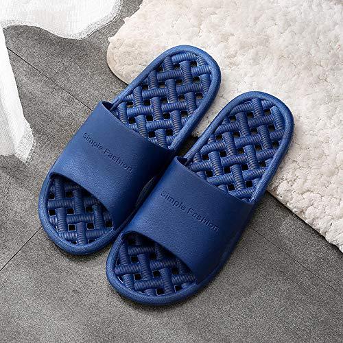 LLGG Ducha Zapatillas Antideslizantes,Zapatillas de Masaje de Fugas caseras, baño Antideslizante-Tibetano_44-45,Zapatillas cómodas portátiles