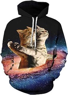 Grace's Secret Unisex Animal Print Pockets 3D Pullover Hoodie Hooded Sweatshirts