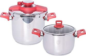 Alberto Pressure Cooker Set, Stainless Steel, 2 Pcs, 10 and 7 Litre, 100067572