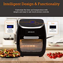 Simple Living 12QT Hot LED Digital Air Fryer Oven & Oil Less Cooker | Multiple Layered Racks, Optimal Temperature Balancing, 8 Presets, Dehydrator & Rotisserie Functions | Portable & Family Size
