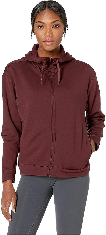 Nike Women's Therma Fleece Training Hoodie Burgundy Crush/White