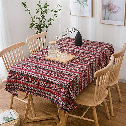 GTWOZNB Borla del Paño de Tabla del Lino del Algodón para la Cubierta de Tabla de Cena del Banquete Simple y Fresco-Veintitres_El 140 * 200cm