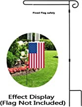 HOOSUN Garden Flag Stand Holder Easy to Install Strong and Sturdy Wrought Iron Pole Fits Mini Flag 12.5